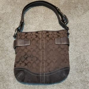 Coach Brown Suede No.F05K-3574